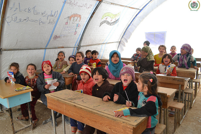 A refugee camp in Aleppo, Syria.  IHH Humanitarian Relief Foundation.