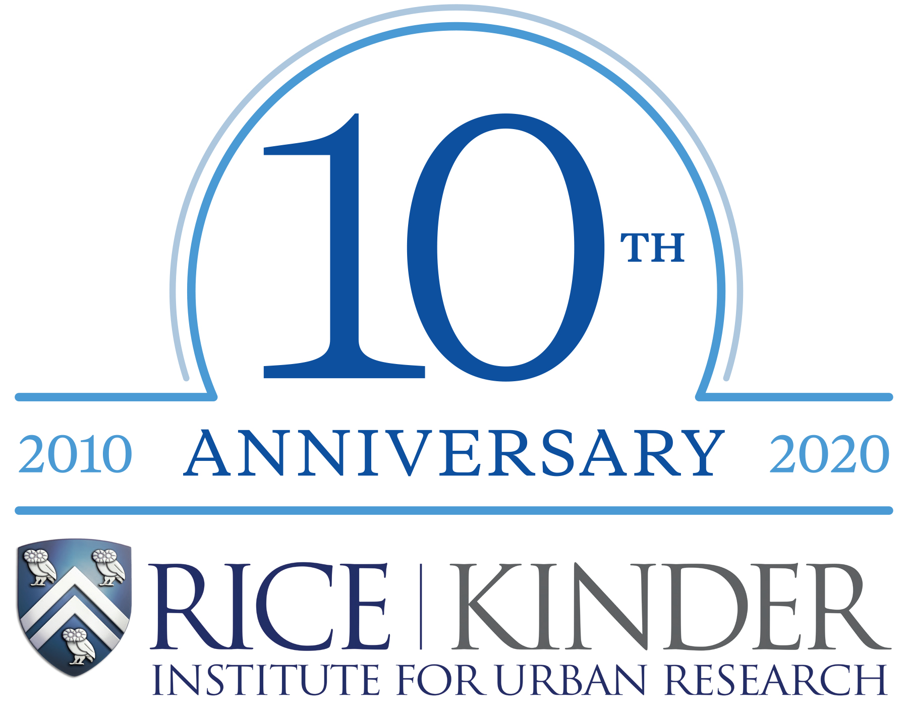 10th anniversary logo Kinder Institute for Urban Research