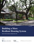 Building A More Resilient Housing System Report Cover
