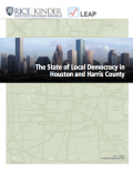 Thumbnail of Houston and Harris County Elections report cover