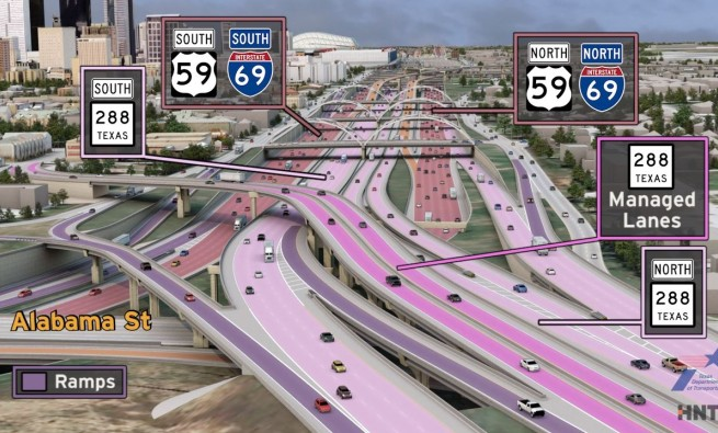 TxDOT's I-45 expansion rendering