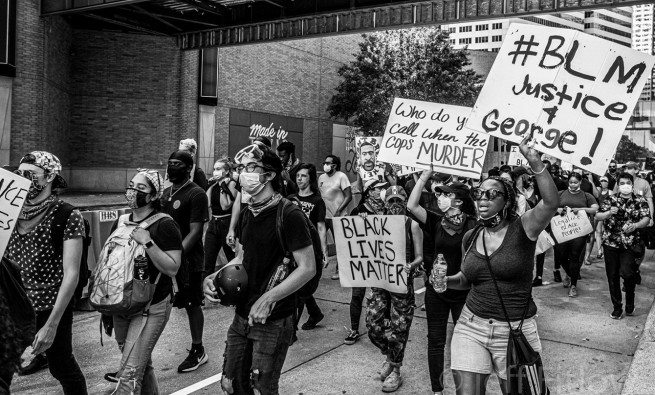 Houston protest against police brutality in the wake of George Floyd killing