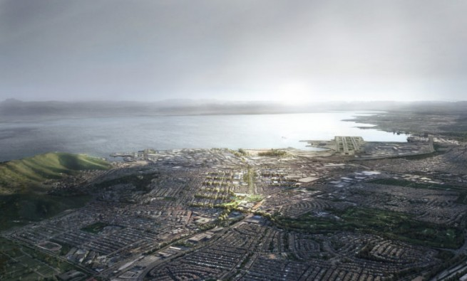 South San Francisco masterplan proposal. Image courtesy of Hassell+.