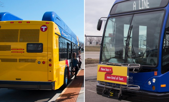 Metro Transits A Line BRT bus. The A Line opened in 2016.