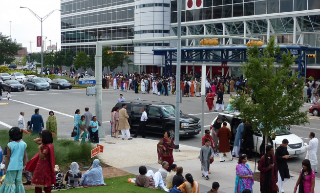 Eid celebration at convention center