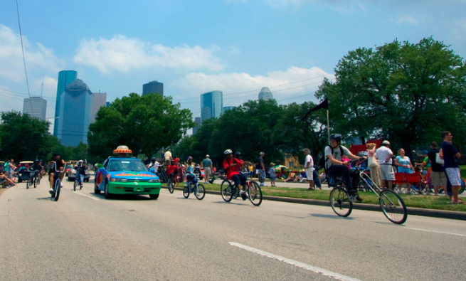 Scene from an Art Car Parade in Houston