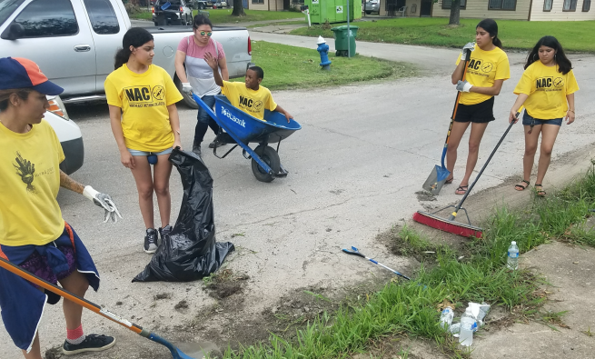 Northeast Action Collective cleanup day