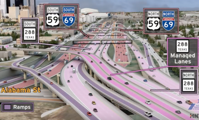 TxDOT NNHIP visualization of project segment