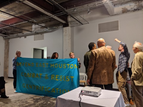 Buffalo Bayou East protesters