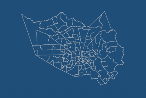 Harris County blue map