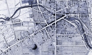 historic map of auburn new york