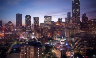 Image of downtown Houston at night