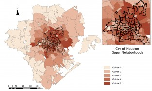This map shows the prevalence of asthma across the Houston area