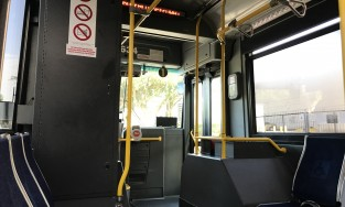 View from inside a bus