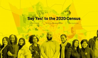 artwork for Harris County census campaign