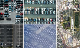 parking lots aerial views