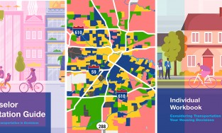 three photo grid for affordable housing and transportation report blog post