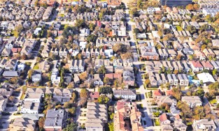 Houston neighborhood aerial