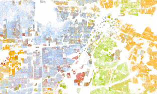 Racial dot map Houston