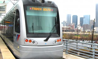 METRO light rail train in Houston
