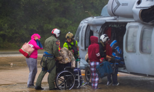 Family rescued during Harvey