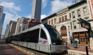 Houston's downtown rail line