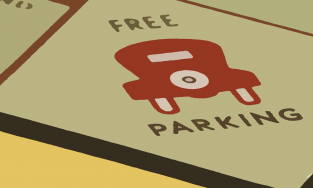 Free Parking Monopoly square