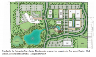 Site plan for East Aldine Town Center