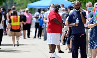 Voters in Lexington, Kentucky, waited more than 90 minutes to vote on June 23.